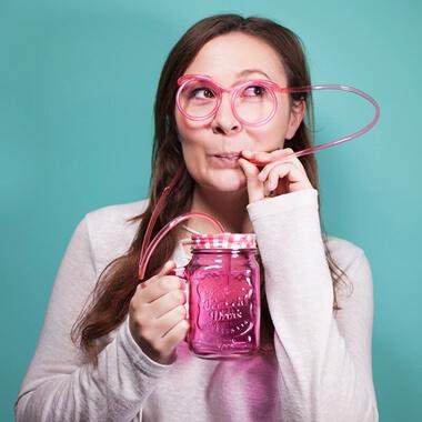 Personalised Mason Jar with Straw Glasses