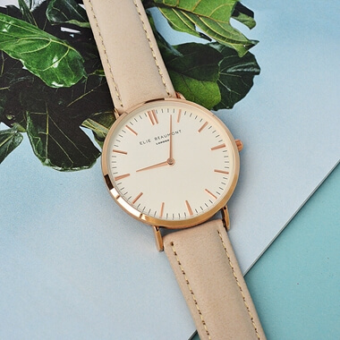 Personalised Vintage Stone Leather Watch