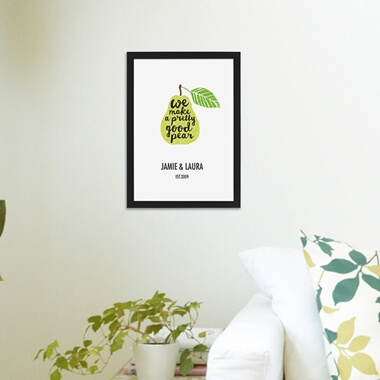 Personalised Perfect Pear Framed Poster