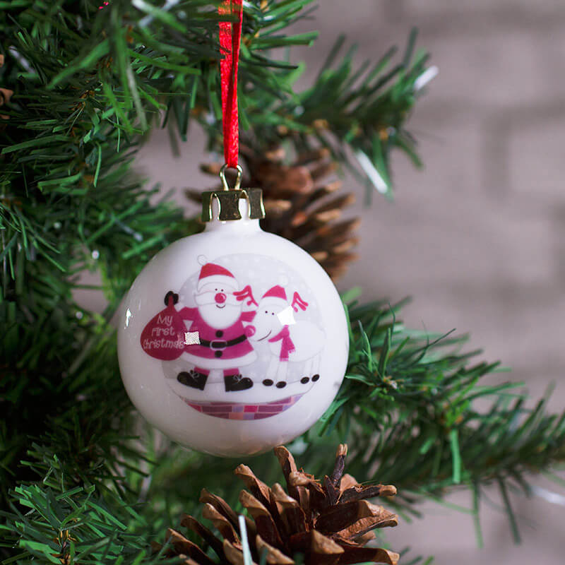 Personalised Christmas Bauble - Baby's First Christmas - Buy from ...