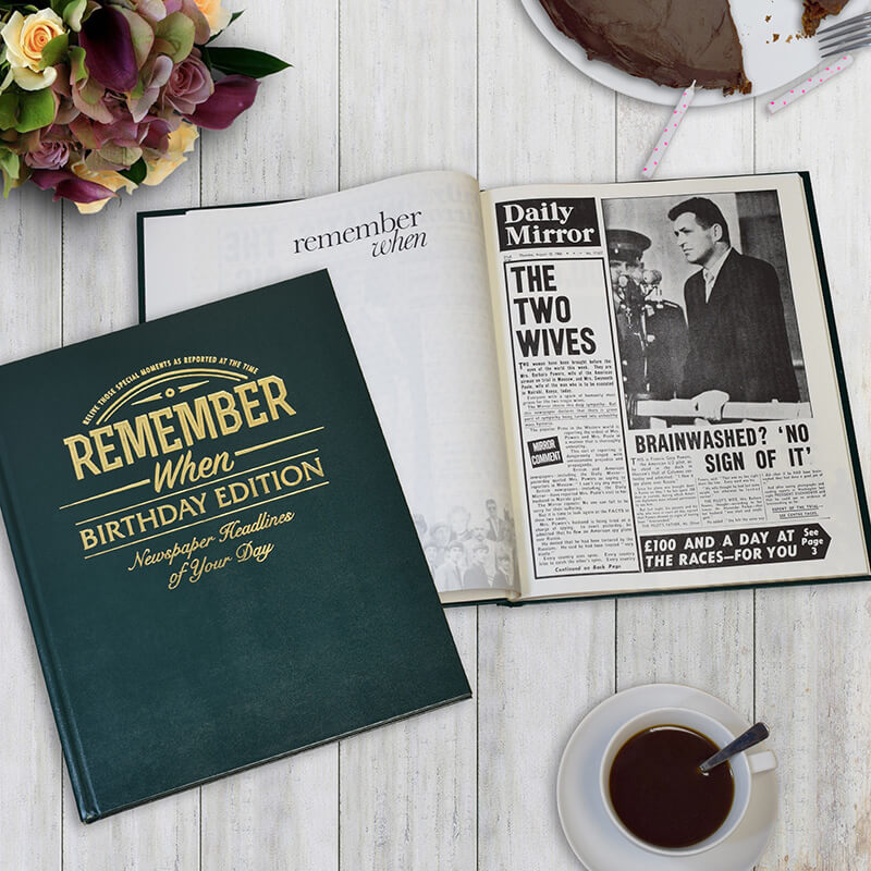 personalised newspaper book birthday edition buy from prezzybox com