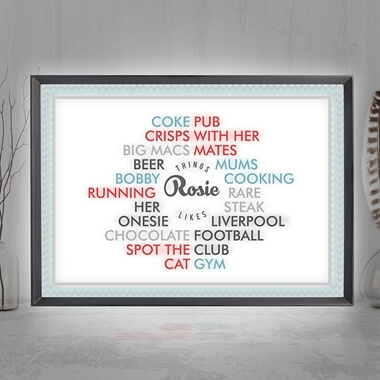 Personalised Likes Light Box