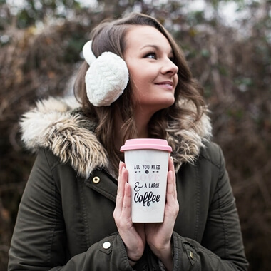 All You Need Is Love and A Large Coffee Travel Mug and Cosy Earmuffs