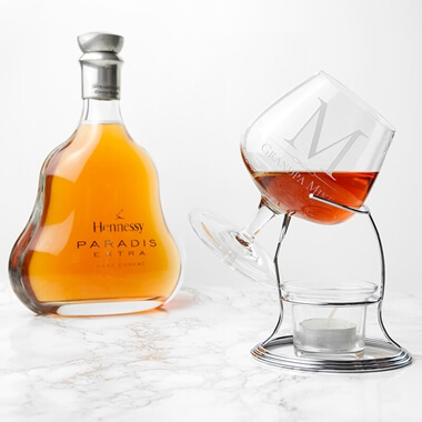 Personalised Brandy Warmer Set
