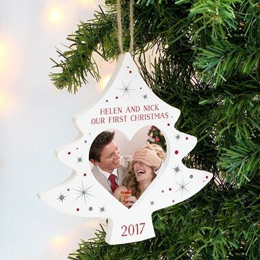 Personalised Christmas Tree Photo Decoration