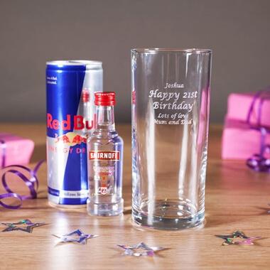 Personalised Vodka & Red Bull Gift Set