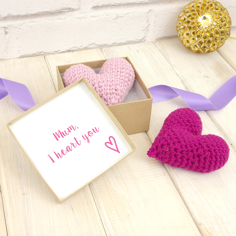 Personalised Crochet Love Heart With Secret Message