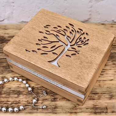 Personalised Tree Filigree Trinket Box