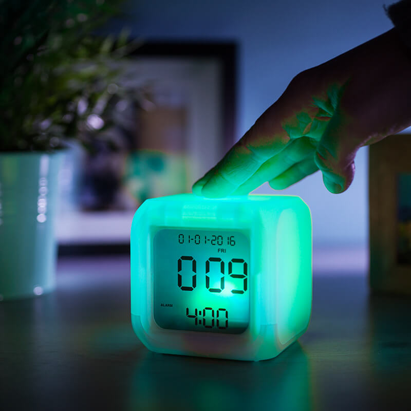 Coloring for Kids kids color changing alarm clock : Aurora Ice Colour Changing Alarm Clock - Buy from Prezzybox.com