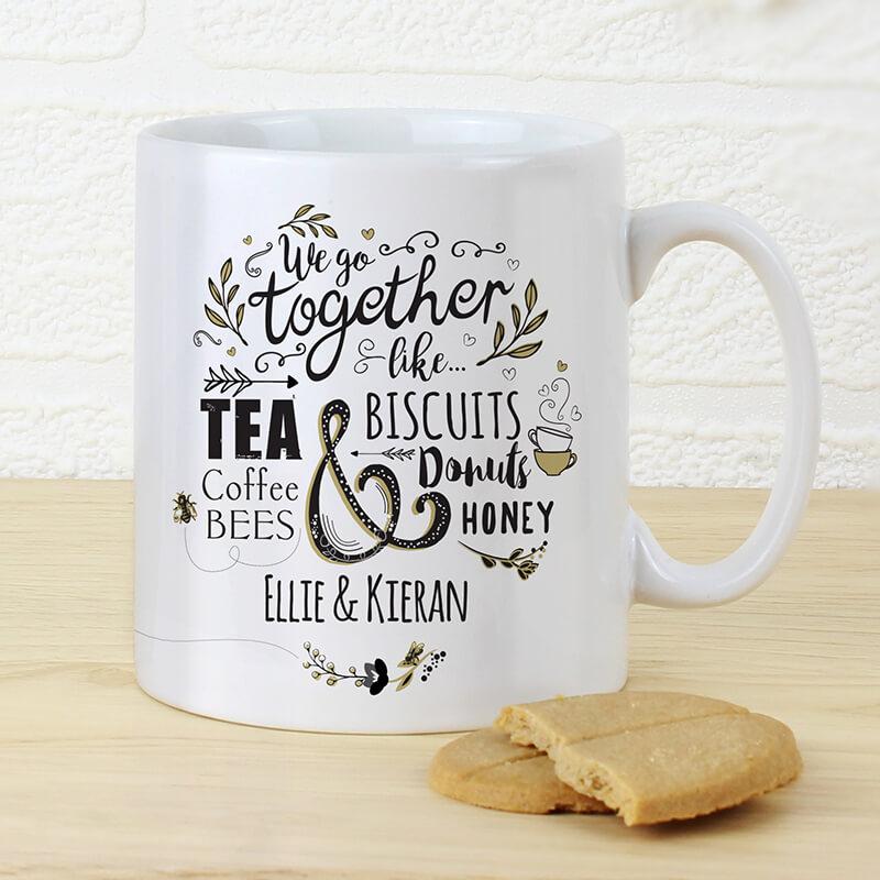Personalised We Go Together Like... Mug