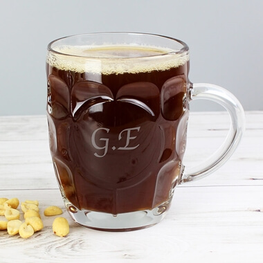 Personalised Dimple Pint Glass
