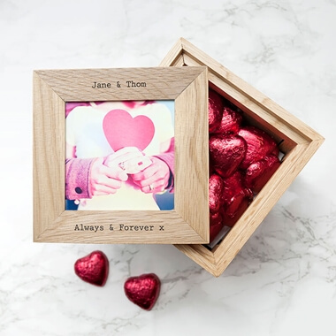 Personalised 30 Days Of Kisses Photo Frame Keepsake Box