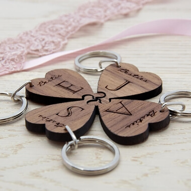 Personalised Lucky Clover Keyring