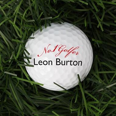 Set Of 3 Personalised No1 Golfer Golf Balls