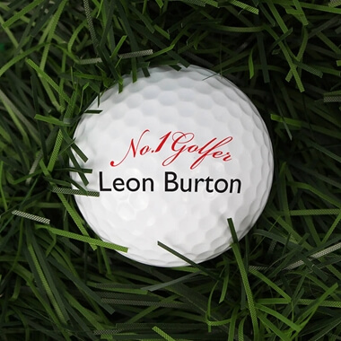 Personalised No1 Golfer Golf Balls - Set Of 3