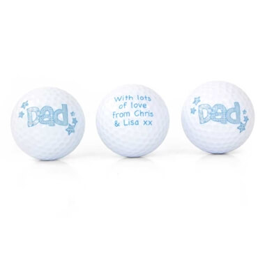 Personalised Set Of 3  Dad Golf Balls