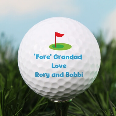 Personalised Flag Golf Ball