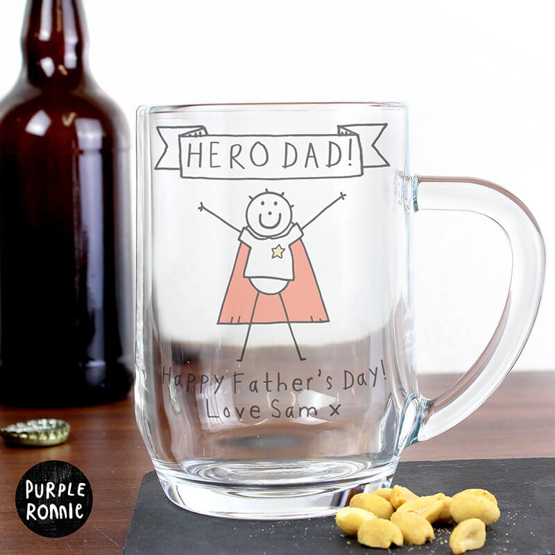 Personalised Purple Ronnie Super Hero Tankard