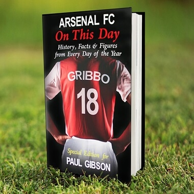Personalised Arsenal On This Day Book