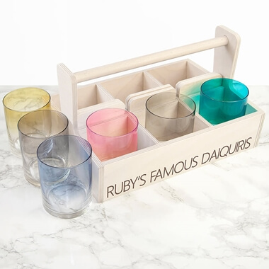 Personalised LSA Cocktail Tumbler Trug