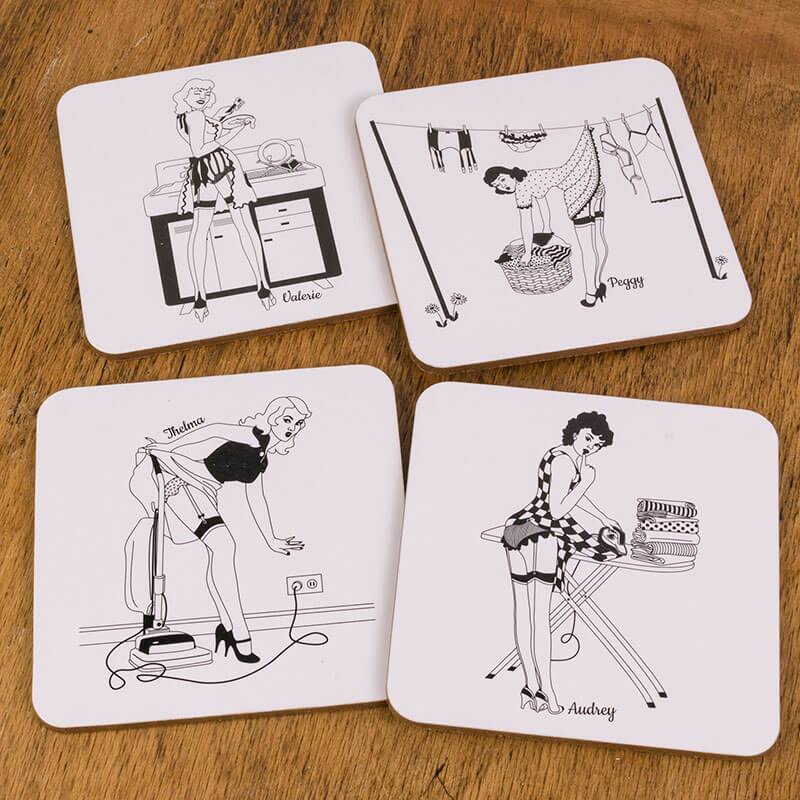 Happy Housewives - Set Of 4 Coasters