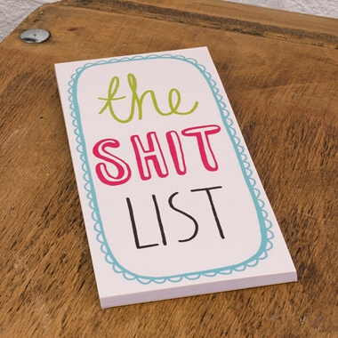 The Shit List - Magnet Notebook