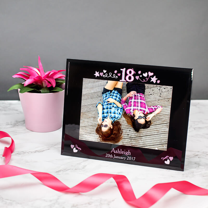 16th Birthday18th Birthday Gift18th Birthday Present By: Personalised 18th Birthday Glass Photo Frame