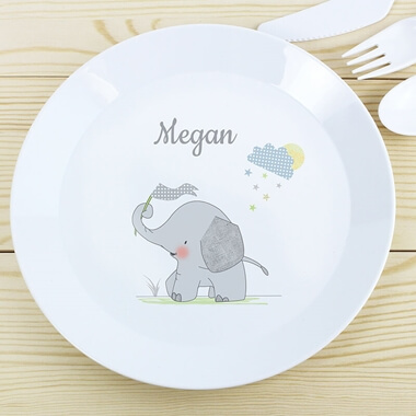 Personalised Elephant Plate
