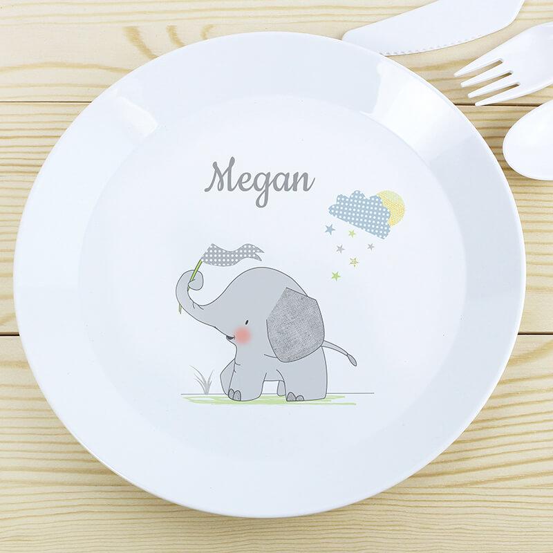 Personalised Elephant Plate