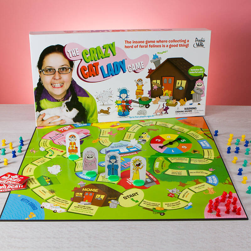 Crazy Cat Lady Board Game - Buy from Prezzybox.com