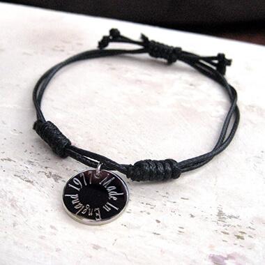 Personalised Edge Cord Bracelet