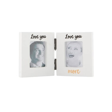 Love You More Photo Frame