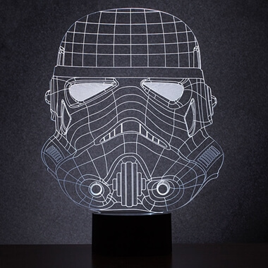 Original Stormtrooper Wireframe Light