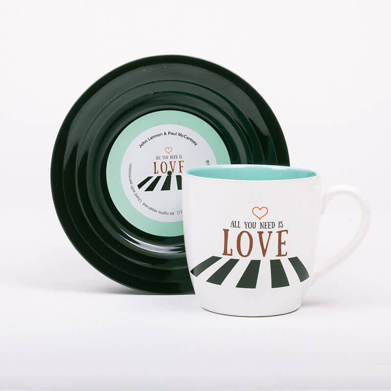 All You Need Is Love - Mug and Saucer Set