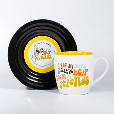 With A Little Help From My Friends - Mug and Saucer Set