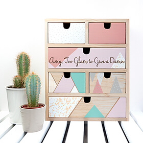 Personalised Geometric Accessory Drawers