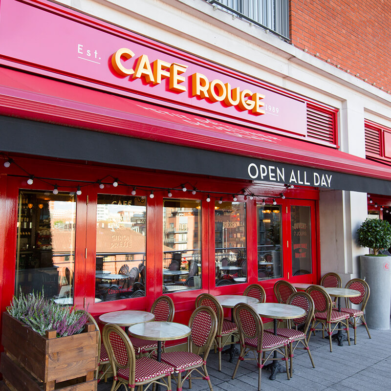 Three Course Meal with Sparkling Wine for Two at Cafe Rouge