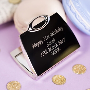 Personalised Handbag Compact Mirror