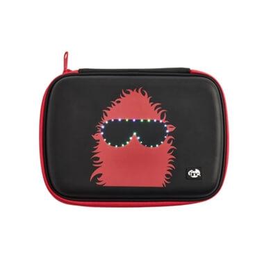 GlowGo Pencil Case - Black/Red