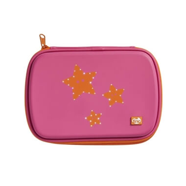 GlowGo Pencil Case - Pink/Orange