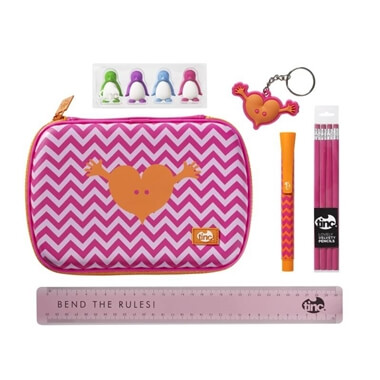 Geometric Back to School Stationery Set - Pink