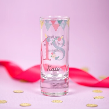 Personalised Birthday Shot Glass