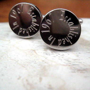 Personalised Established Birthday Cufflinks