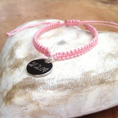 Personalised Braided Disc Bracelet