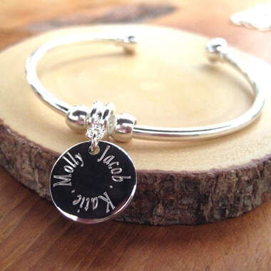 Personalised Edge Bangle