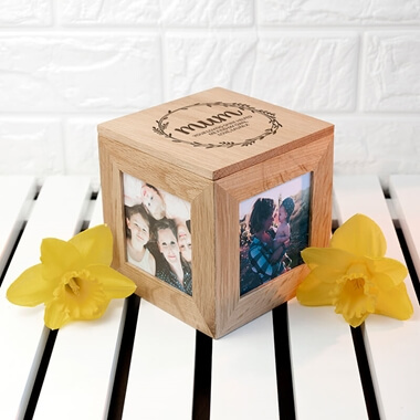Personalised Mums Photo Frame Keepsake Box