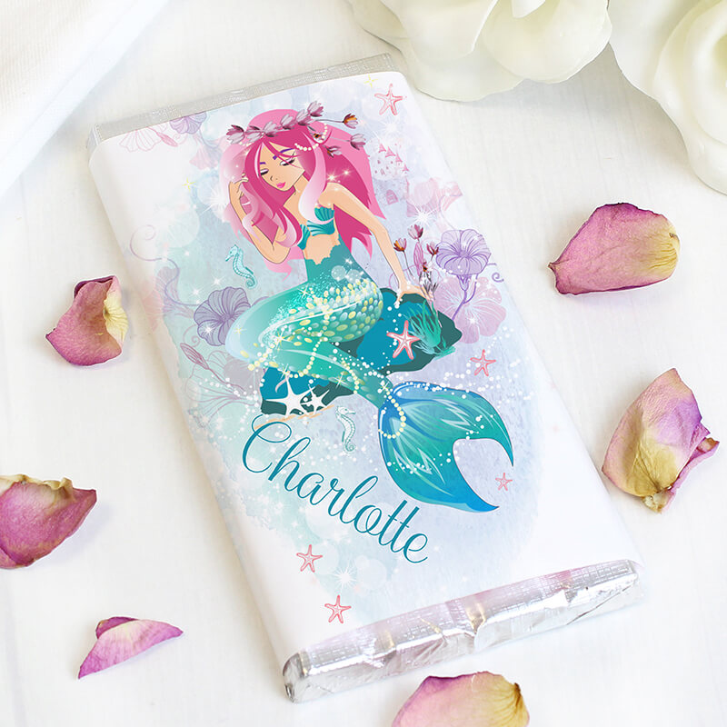 Personalised Mermaid Chocolate Bar
