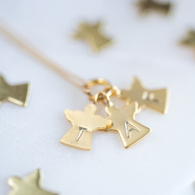 Personalised Mummy's Little Angels Necklace