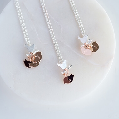 Personalised Family Bird Necklace