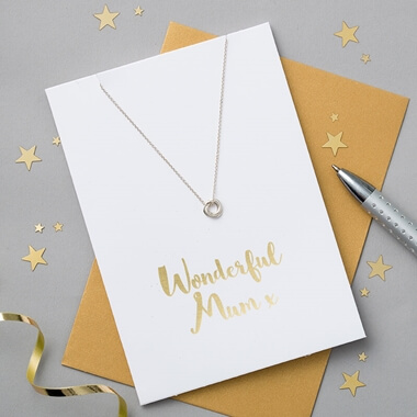 Wonderful Mum Card And Necklace Set